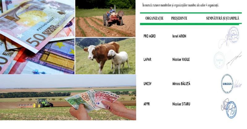 Fermierii cer compensarea datoriilor către Stat, cu subvenţiile APIA
